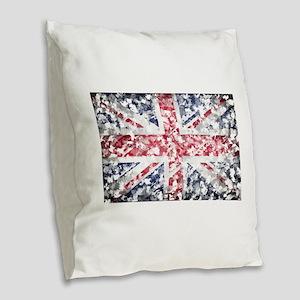 flag Burlap Throw Pillow