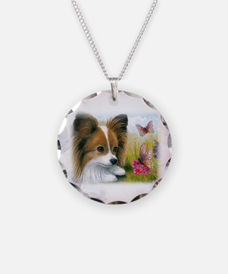 Dog 123 Papillon Necklace