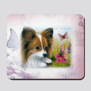 Dog 123 Papillon Mousepad