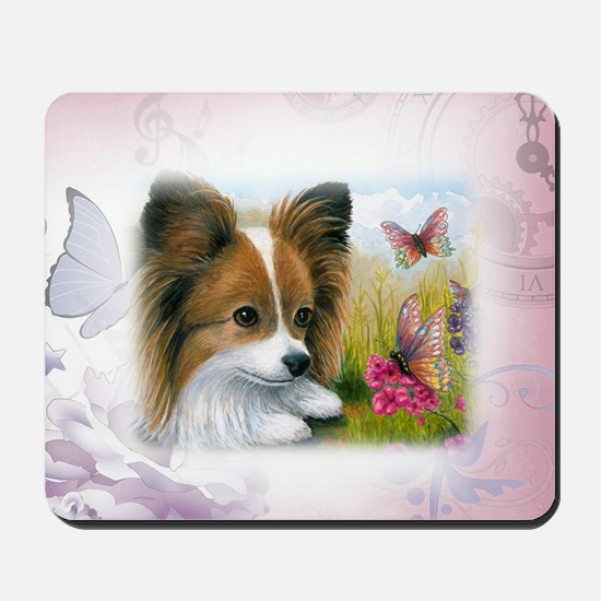 Dog 123 Papillon Mousepad
