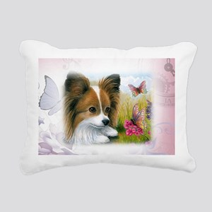 Dog 123 Papillon Rectangular Canvas Pillow