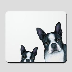 Dog 128 Boston Terrier Mousepad