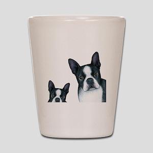 Dog 128 Boston Terrier Shot Glass