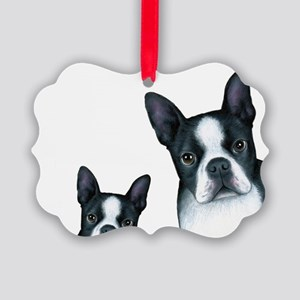 Dog 128 Boston Terrier Picture Ornament