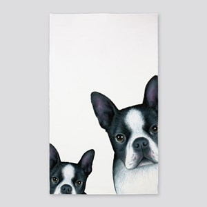 Dog 128 Boston Terrier Area Rug