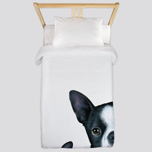 Dog 128 Boston Terrier Twin Duvet
