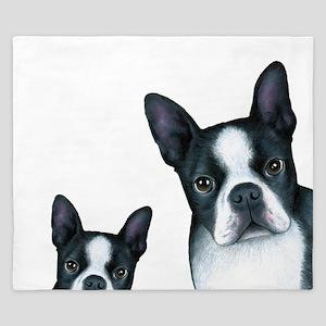 Dog 128 Boston Terrier King Duvet