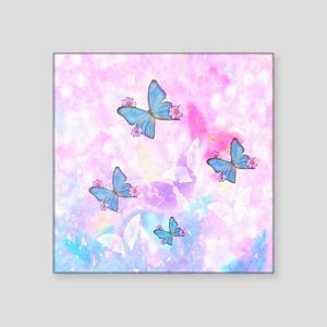 "Butterfly Pattern Square Sticker 3"" x 3"""