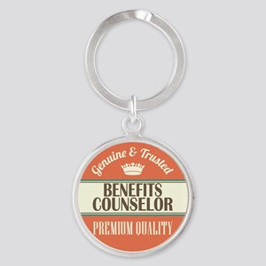 Benefits Counselor Round Keychain