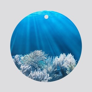 Tropical Reef Round Ornament
