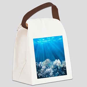 Tropical Reef Canvas Lunch Bag