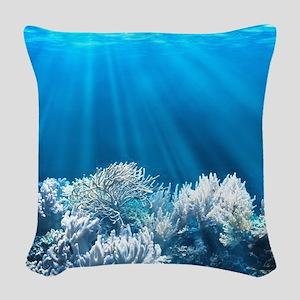 Tropical Reef Woven Throw Pillow