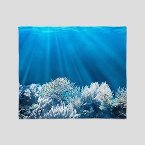 Tropical Reef Throw Blanket