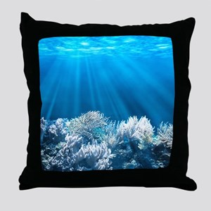 Tropical Reef Throw Pillow