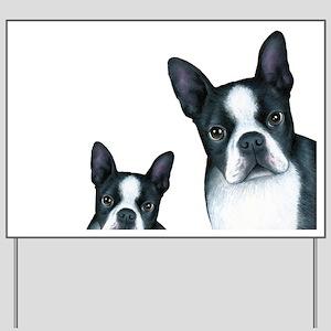 Dog 128 Boston Terrier Yard Sign