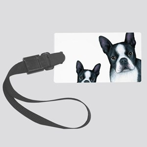 Dog 128 Boston Terrier Large Luggage Tag