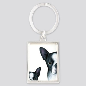 Dog 128 Boston Terrier Keychains