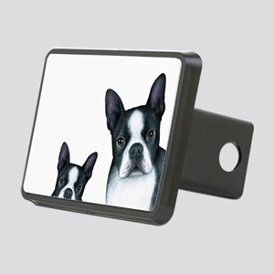 Dog 128 Boston Terrier Rectangular Hitch Cover