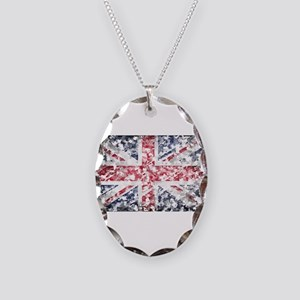 flag Necklace Oval Charm