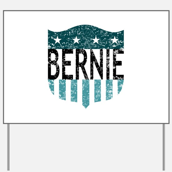 bernie stars and stripes Yard Sign