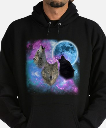 Wolves Mystical Night Hoodie