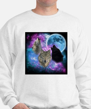 Wolves Mystical Night Sweatshirt