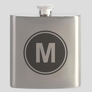 Letter M Monogram Flask