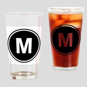 Letter M Monogram Drinking Glass