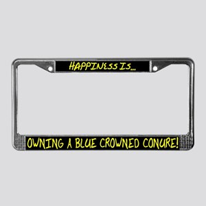 HI Owning Blue Crowned Conure License Plate Frame
