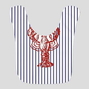 blue nautical stripes vintage lobster Bib