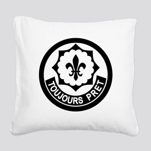 2nd Armored Cavalry Square Canvas Pillow