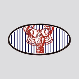 blue nautical stripes vintage lobster Patch
