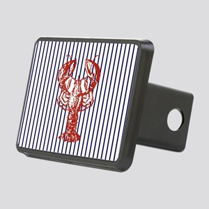 blue nautical stripes vint Rectangular Hitch Cover