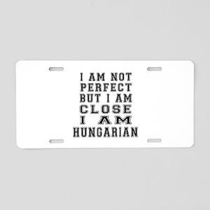 Hungarian Designs Aluminum License Plate