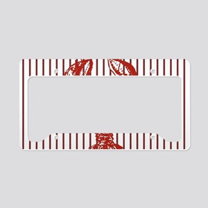 nautical red white stripes lo License Plate Holder