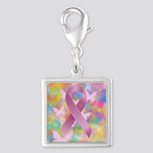 Pink Awareness Ribbon Charms
