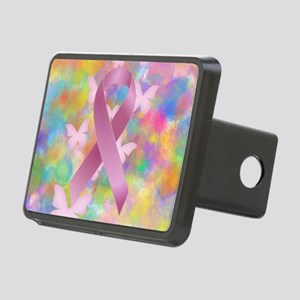 Pink Awareness Ribbon Hitch Cover