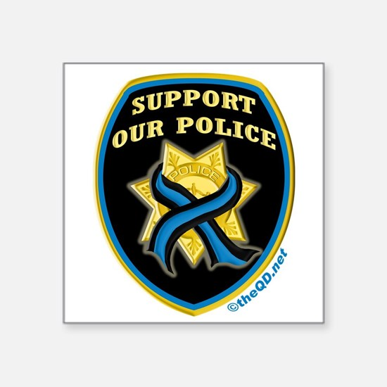 "Cute Oakland police department Square Sticker 3"" x 3"""