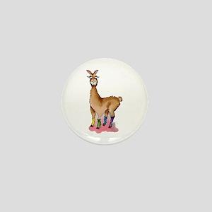Lady Llams Mini Button
