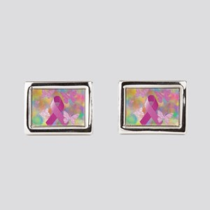 Breast Cancer Awareness Rectangular Cufflinks