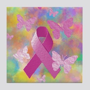 Breast Cancer Awareness Tile Coaster