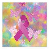 Breast cancer survivor Square Car Magnets