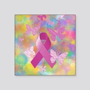 "Breast Cancer Awareness Square Sticker 3"" x 3"""