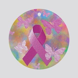 Breast Cancer Awareness Round Ornament
