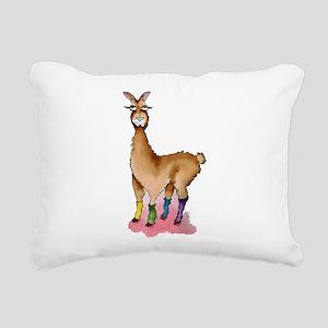 Lady Llams Rectangular Canvas Pillow