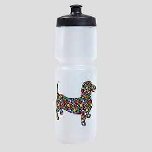 Dachshund Polka Dots Sports Bottle