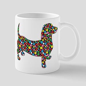 Dachshund Polka Dots Mug