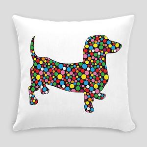 Dachshund Polka Dots Everyday Pillow