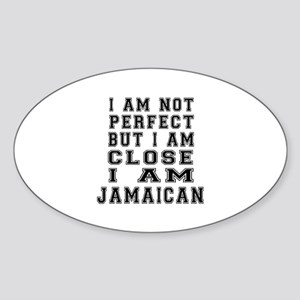 Jamaican Designs Sticker (Oval)