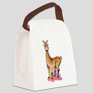 Lady Llams Canvas Lunch Bag